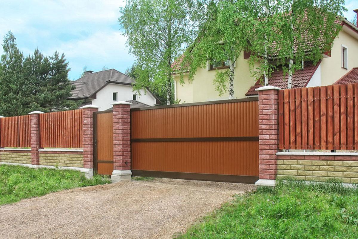 Ворота для дачи с калиткой откатные автоматические ворота новые ворота