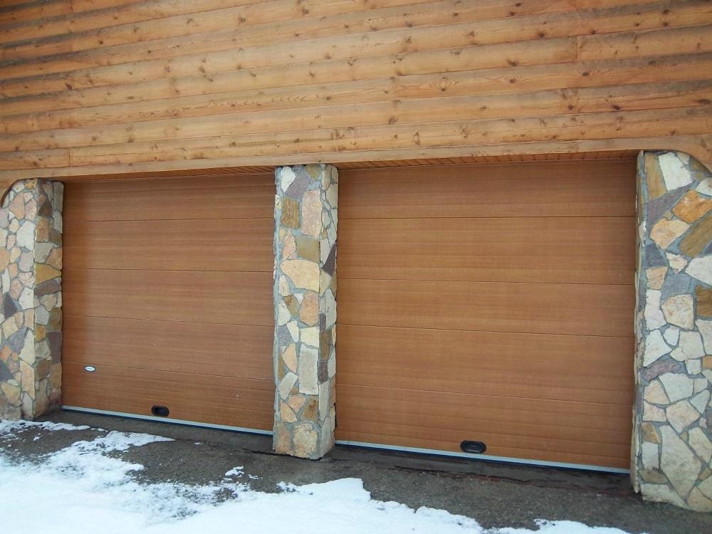 автоматические ворота для гаража зимой